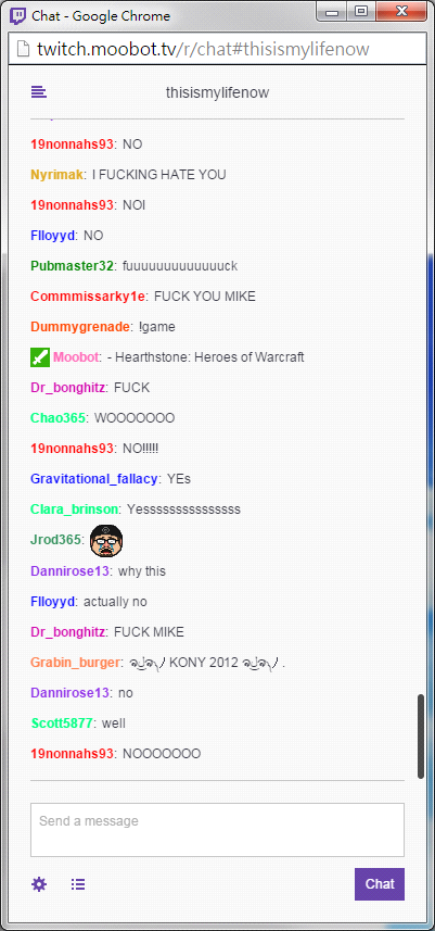 Chat reaction